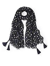 Anna Aura - Schal mit Fransen und Details mit Kunstoff-Perlen