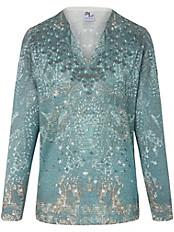 Dingelstädter - V-Pullover mit gewelltem Ausschnitt