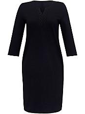 Emilia Lay - Jersey-Kleid mit applizierter Spitze am Ausschnitt