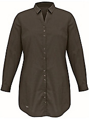 Emilia Lay - Long-Bluse mit Hemdkragen