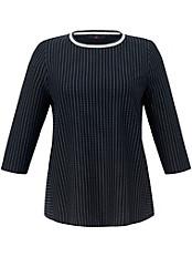Emilia Lay - Nadelstreifen-Sweatshirt mit 3/4-Arm