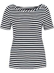 Emilia Lay - Rundhals-Shirt mit weiterem Ausschnitt