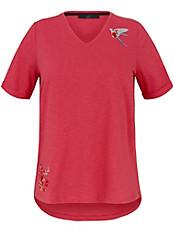 Emilia Lay - Shirt mit gerundetem V-Ausschnitt