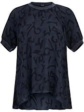 FRAPP - Blusen-Shirt mit Rundhals-Ausschnitt