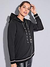 FRAPP - Hoodie-Sweatshirt mit 1/1-Arm