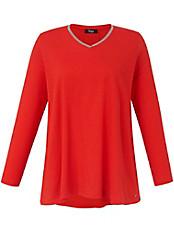 FRAPP - Langarm-Shirt mit V-Ausschnitt