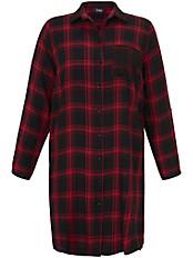 FRAPP - Long-Bluse mit Hemdkragen