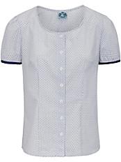 Hammerschmid - Bluse mit Rundhals-Ausschnitt