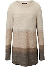 Inkadoro - Rundhals-Pullover aus Alpaka mit Merino-Schurwolle