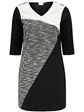 JUNAROSE - Kleid im modernen Color-Blocking