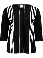 JUNAROSE - Pullover mit unregelmäßigen Streifen
