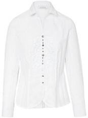 Just White - Bluse mit offenen Hemdkragen