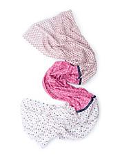 LIEBLINGSSTÜCK - Schal mit dekorativem Print und einem Samtband