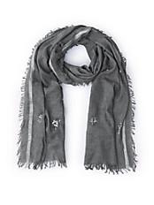 Passigatti - Schal mit Glitzer-Streifen und Pailletten