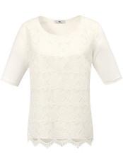 Peter Hahn - Blusen-Shirt aus 100% Seide mit Spitze