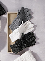 Peter Hahn Cashmere - Handschuh mit modischen Glitzer-Effekt