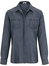 Peter Hahn - Jeans-Bluse mit 1/1 Arm
