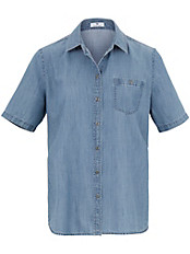 Peter Hahn - Jeans-Bluse mit 1/2-Arm
