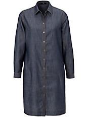 Peter Hahn - Jeans-Kleid mit Krempel-Ärmel und legerem Schnitt