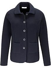 Peter Hahn - Jersey-Jacke mit Bubi-Kragen