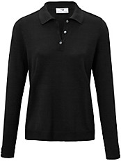 Peter Hahn - Polo-Pullover in leicht taillierter Form