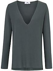 Peter Hahn - Pullover in legerer Form und mit tiefem Ausschnitt