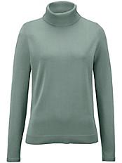 Peter Hahn - Rollkragen-Pullover mit Rippenabschlüssen