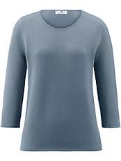 Peter Hahn - Rundhals Pullover aus 100% Baumwolle mit 3/4-Arm