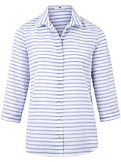 Peter Hahn - Streifen-Bluse mit 3/4-Arm aus 100% Baumwolle
