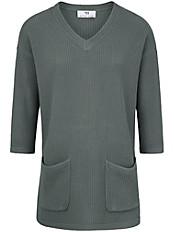 Peter Hahn - V-Pullover mit 3/4-Arm und lässiger Oversized-Form