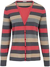 Rabe - Rundhals-Pullover mit Streifen-Dessin