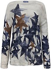 Samoon - Rundhals-Pullover mit Sterne-Print