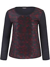 Samoon - Shirt mit Herzchen-Print und kleinen Volants
