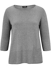 Via Appia Due - Rundhals-Pullover mit 3/4 Arm