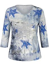 Via Appia Due - Shirt mit einem kreativen Print und feinem Glanz