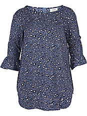 zizzi - Bluse mit U-Boot-Ausschnitt