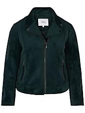 zizzi - Jacke aus Veloursleder-Imitat