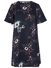 zizzi - Kleid mit Blumenmuster
