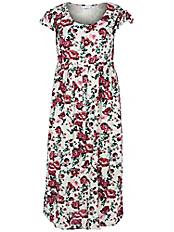 zizzi - Kleid mit kurzem Flügel-Ärmel
