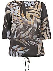 zizzi - Schlupf-Bluse mit Blätter-Print