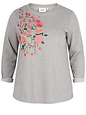 zizzi - Sweatshirt mit Stickerei